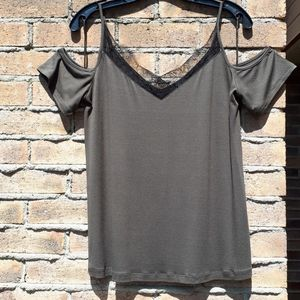 NWT Dynamite Lace Tee